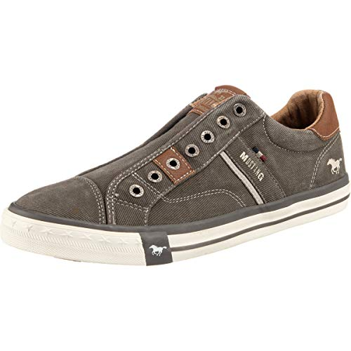 MUSTANG Herren 4072-403-20 Slip On Sneaker, Dunkelgrau, 46 EU