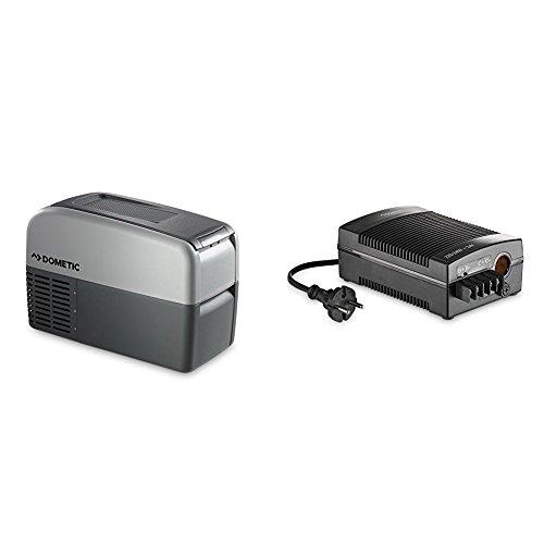 Dometic Coolfreeze CDF 16 - Kompressor-Kühlbox, Gefrier-Box mit 12/24 Volt Anschluss für Zigarettenanzünder für PKW und LKW, Mini-Kühlschrank, ca. 15 l + Gleichrichter CoolPower EPS - DOMETIC