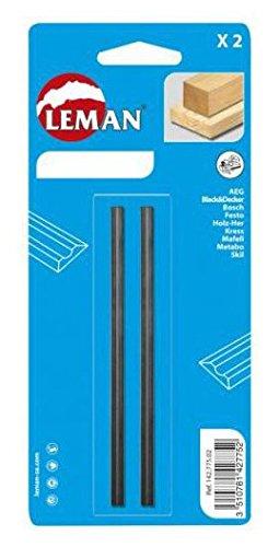 Leman 142.782.02 Pack de 2 Cuchillas de Cepillo, MD 82 x 5,5 x 1,1 mm, Set de 2...