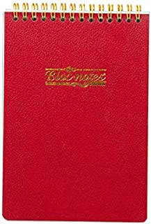 Mintra Hard Cover Double Spiral Block Note B7 Lined- 80 Sheets, Red