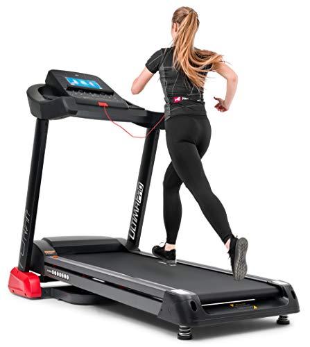 Hop-Sport elektrisches Laufband HS-4500LB starker 4,5 PS Motor mit max. Geschwindigkeit 22 km/h Multifunktionsdisplay inkl. Brustgurt