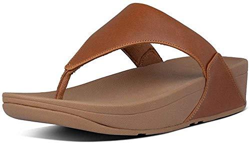 Fitflop Women's Lulu Thong Sandals, Light Tan, 10