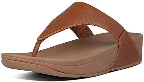 FitFlop Women's Lulu Thong Sandals, Beige Ss18 Light Tan 592, 8