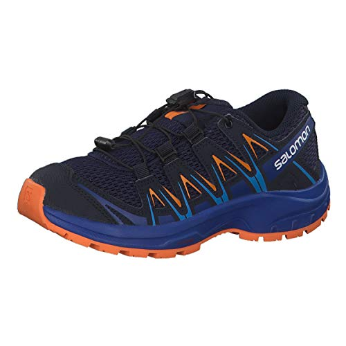 Salomon Kids' XA Pro 3D J Trail Running Shoes, Medieval Blue/Mazarine Blue/Tangelo, 5 Child US
