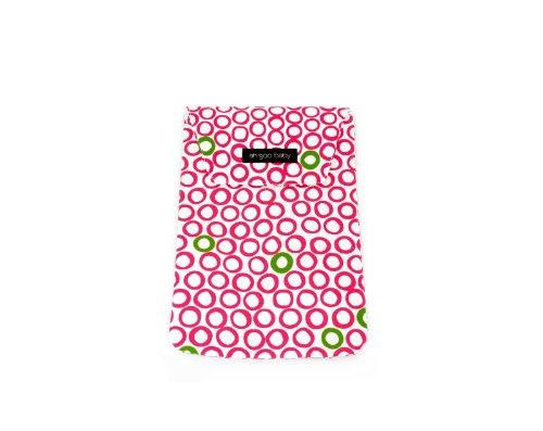Ah Goo Baby DP-BIJ-12 luiertas - Diaper Pouch - blaas erin sap, wit/roze