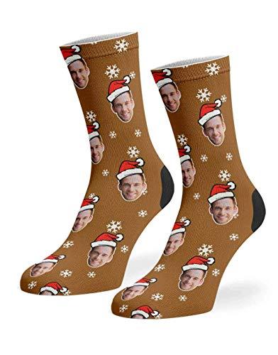 Super Socks Calcetines personalizados de Papá Noel Me | Suave polialgodón personalizado regalos de Navidad para hombres y mujeres - Añade tu foto