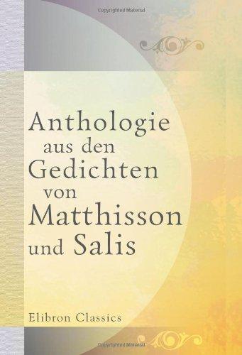 Anthologie aus den Gedichten von Matthisson und Salis