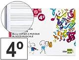 Bloc música Pentagrama 5mm 4º 20 hojas Grapado (10 ud.)