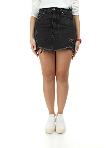 Levi's Deconstructed Skirt Falda, Negro (Gimme Danger 0004), 30 (Talla del Fabricante: 23) para Mujer