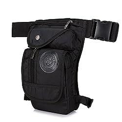 Multifunction Nylon Leg Bag Waist Pack Leg Bag Belt Waist Bag Belt Bag Motorcycle Cycling Cycling Travel Outdoor Sports Tactical Military Hunting Hiking Camping