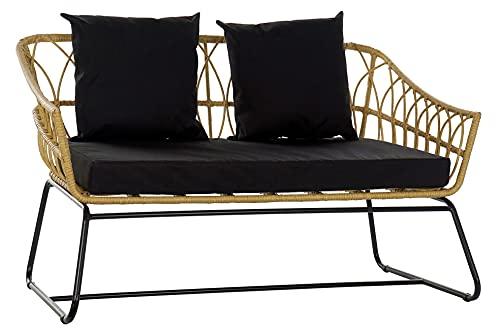 Item Sofa Ratan Sintetico Metal 132X58X80 Desenfundable