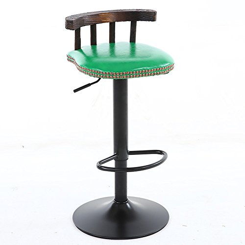 LightSeiEU/Chaises de bar rétro/chaises de bar en bois massif américain/tables basses et chaises basses/tabouret haut 38.5 * (60-80) cm (Couleur : 7)