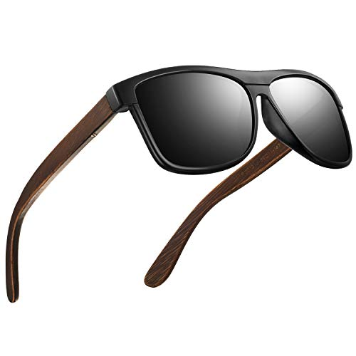 Polarisierte Sonnenbrillen Herren Vintage Stil Sonnenbrillen Damen-Sport im Freien Golf Radfahren Angeln Wandern FD2150 (Z-Matte schwarz-Einfacher, 60)
