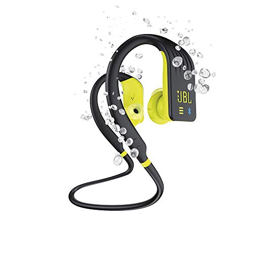 JBL Endurance DIVE Cuffie In Ear Wireless, Auricolari Bluetooth Senza Fili Waterproof IPX7 per Sport, Controlli Touch, 1GB di Memoria, Lettore MP3 integrato, 8h di Autonomia, Nero / Giallo