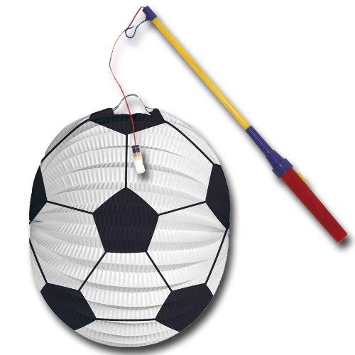 Fußball Laterne mit elektr. Laternenstab, Lampion zum Laterne Laufen Palandi®