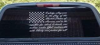 Firehouse Graphics American Flag Pledge of Allegiance Vinyl Truck Window Sticker Decal (10
