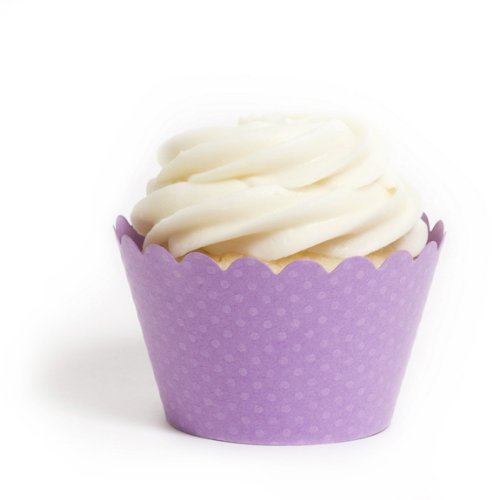 Dress My Cupcake Standard Orchid Purple Cupcake Wrappers, Set of 12