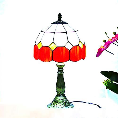 LáMparas De Mesa Para SalóN, LáMparas De Mesa Para Dormitorio, LJR Estilo De Calidad Impresionante Hecho A Mano Vintage Flores Hermosas Base De AleacióN Proceso De Pintura/Naranja
