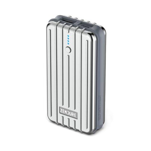 Zendure A2 kompakte Powerbank 6700mAh Externer Akku Portable Charger 2.4A Ausgang für iPhone,iPad,Samsung Galaxy und mehr Smartphones (Silber)