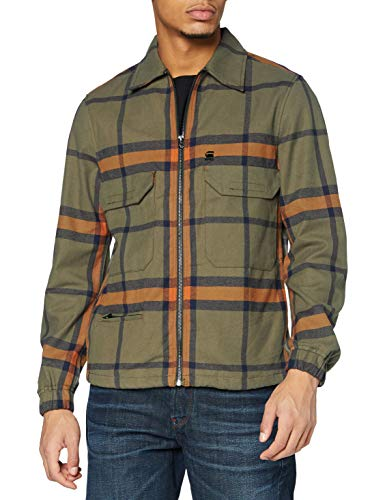 G-STAR RAW Mens XPO Overshirt Cotton Lightweight Jacket, Combat Harry Check C548-C020, L