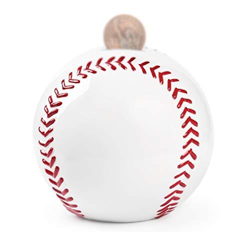 Hucha de cerámica para regalo, hucha de cerámica, diseño creativo, regalo de cumpleaños para niños, decoración del hogar, creatividad, banco, de dinero (color: béisbol mediano)