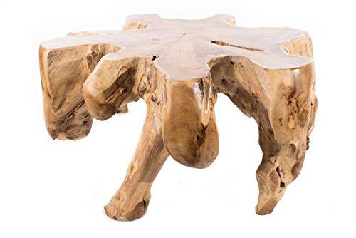 WINDALF Hobbit Style Table basse en bois de racine 47 cm
