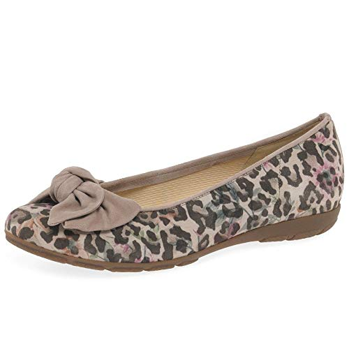 Gabor Redshank Womens Ballet Pumps 39.5 Leopard Flower Antique Rose