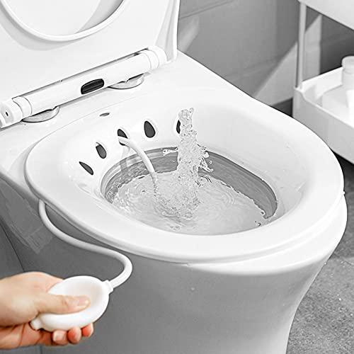 Sitz - Vasca da bagno per la cura post-parto, speciale per le donne incinte, bacino per la cura postoperatorio, sedile pieghevole per vasca da bagno (grigio)