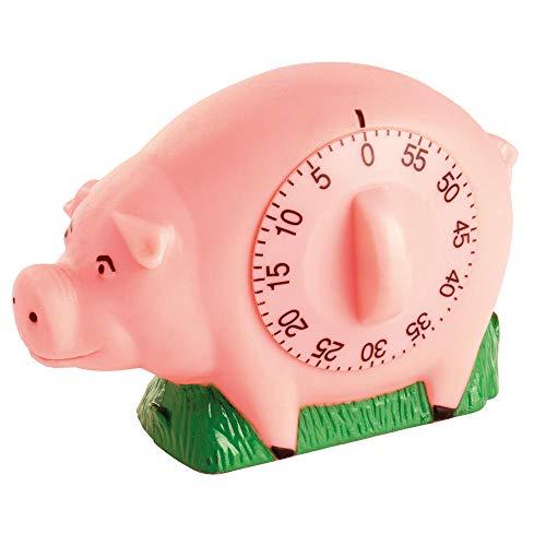 Schwein Küchentimer mit Quiek Geräusch - Schweinchen Eieruhr Kurzzeitwecker Kurzzeitmesser