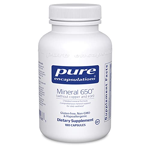 Pure Encapsulations - Mineral 650 Without Copper & Iron -...