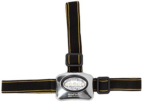 Regatta Idéal en extérieur 5 Lampe Frontale LED avec tête réglables Taille Unique Noir - Noir/Gris