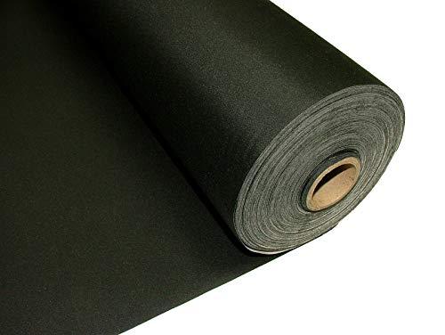 Discount Fabrics Ltd Thermo-Verdunkelungsstoff, dicht, 3-lagig, Qualität für Vorhänge, Vorhänge, Jalousien, Projektoren, Leinwand, 137 cm breit, Meterware Schwarz