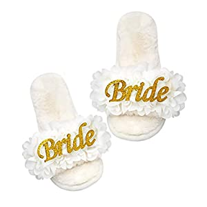 PGN ART Women's Bachelorette Party Engagement Wedding Bridal Shower Gifts for Bride to Be Gifts for Her Bridesmaid Slippers Best with Bride Robe, Sash, Pajamas, Tote Bags Decorations Novelty