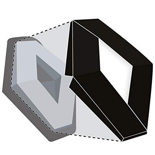 JCM Emblem-Aufkleber für vorne & hinten, Schwarz