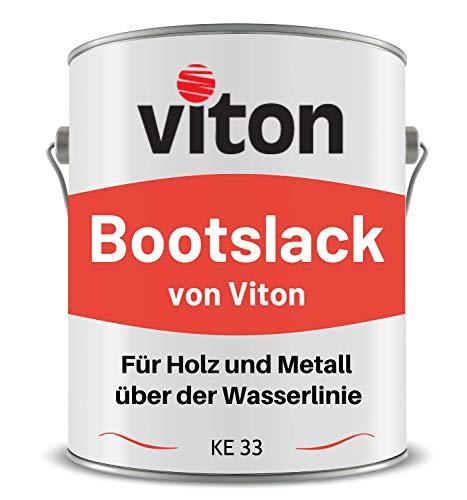 VITON Bootslack & Yachtlack - 3,5 Kg - Einschichtig, Glänzend, Anthrazit - Kunstharzlack für Metall & Holz über der Wasserlinie - Lange Haltbar & Widerstandsfähig - KE 33 - RAL 7016 Anthrazit-Grau