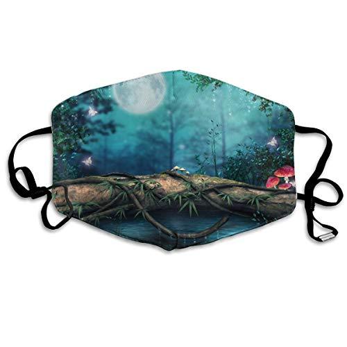 Photoshop Lake Forest Artwork Art Paddestoel Magische Vlinder Unisex Volledige dekking Buis Gezicht Masker Bandanas UV Bescherming Hals Gaiter Hoofdband