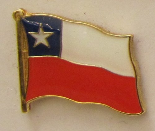 Chile Pin Anstecker Flagge Fahne Nationalflagge Flaggenpin Badge Button Flaggen Clip Anstecknadel