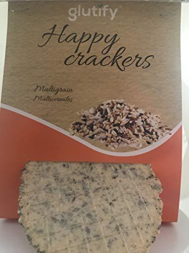 Glutify Crackers Tostis orgánicos de Trigo Sarraceno 60g |100% Natural, sin gluten, sin OGM