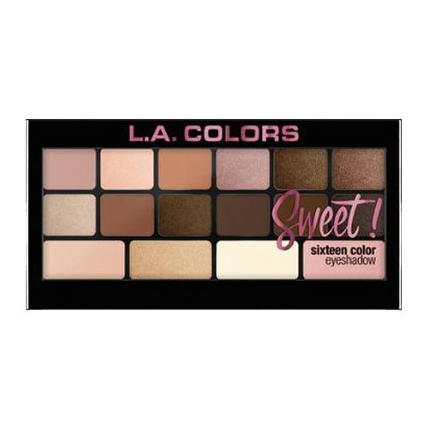 奇妙な方法パイル(6 Pack) L.A. Colors Sweet! 16 Color Eyeshadow Palette - Charming (並行輸入品)