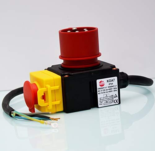 KEDU Geräteschalter KOA7 für Kreissäge, Holzspalter, Wippsägen und vielen anderen Maschinen 380-400V 16A