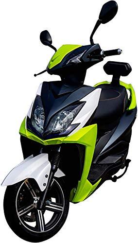 Elektroroller FALCON, 3400 Watt, E-Scooter, Elektro-Roller, E-Roller mit Straßenzulassung, herausnehmbarer Lithium-Akku, 45 km/h, 80 km Reichweite, Produktvideo, Grün