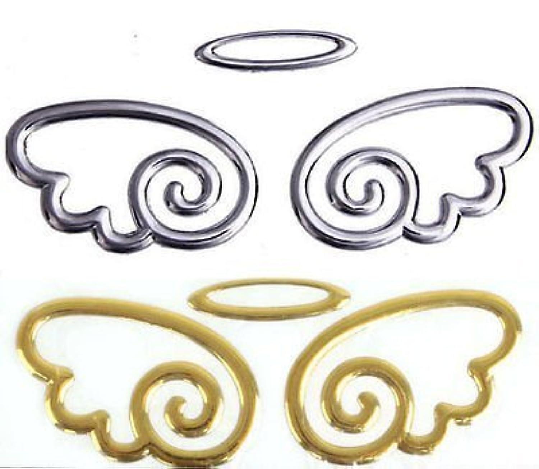 ノーブランド品 エンジェル 立体エンブレム メタル製 ラグジュアリー パーツ 天使 ステッカー シール シルバー
