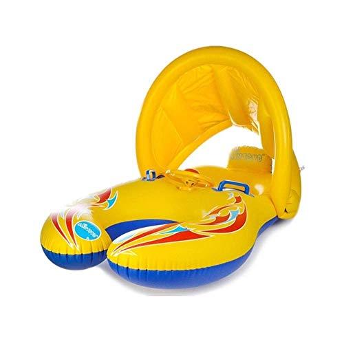 Baby Zwembad Float Met Zonnescherm Draagbare Moeder Kinderen Zwemmen Cirkel Opblaasbare Veiligheid Zwemmen Ring Float Seat