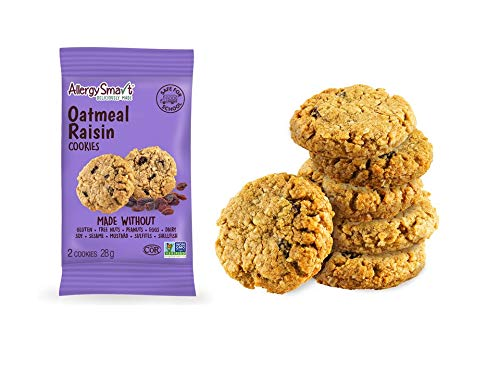 Allergy Smart Cookie - 15 X 28g - Allergen Friendly & Gluten Free Cookies - Vegan Snacks - Allergen-Free Treats… (Oatmeal Raisin, 15 Pack)