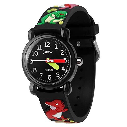 Armbanduhr für Kinder Jungen und Mädchen, 30M wasserdichte Analog Quarzuhr, 3D Cute Cartoon Uhr, Digitale Kinderuhr, Teaching Handgelenk Uhren mit Silikon Armband (Dino)