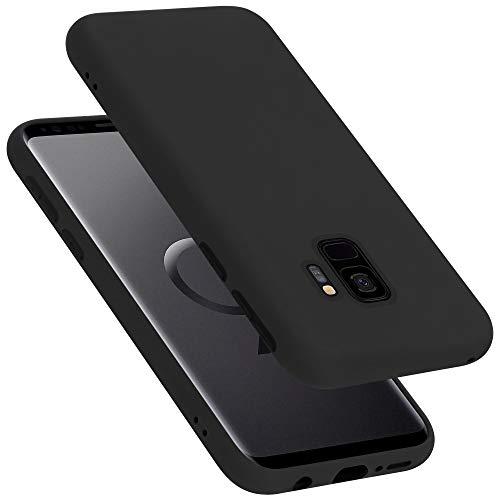 Cadorabo Custodia per Samsung Galaxy S9 in LIQUID NERO - Morbida Cover Protettiva Sottile di Silicone TPU con Bordo Protezione - Ultra Slim Case Antiurto Gel Back Bumper Guscio