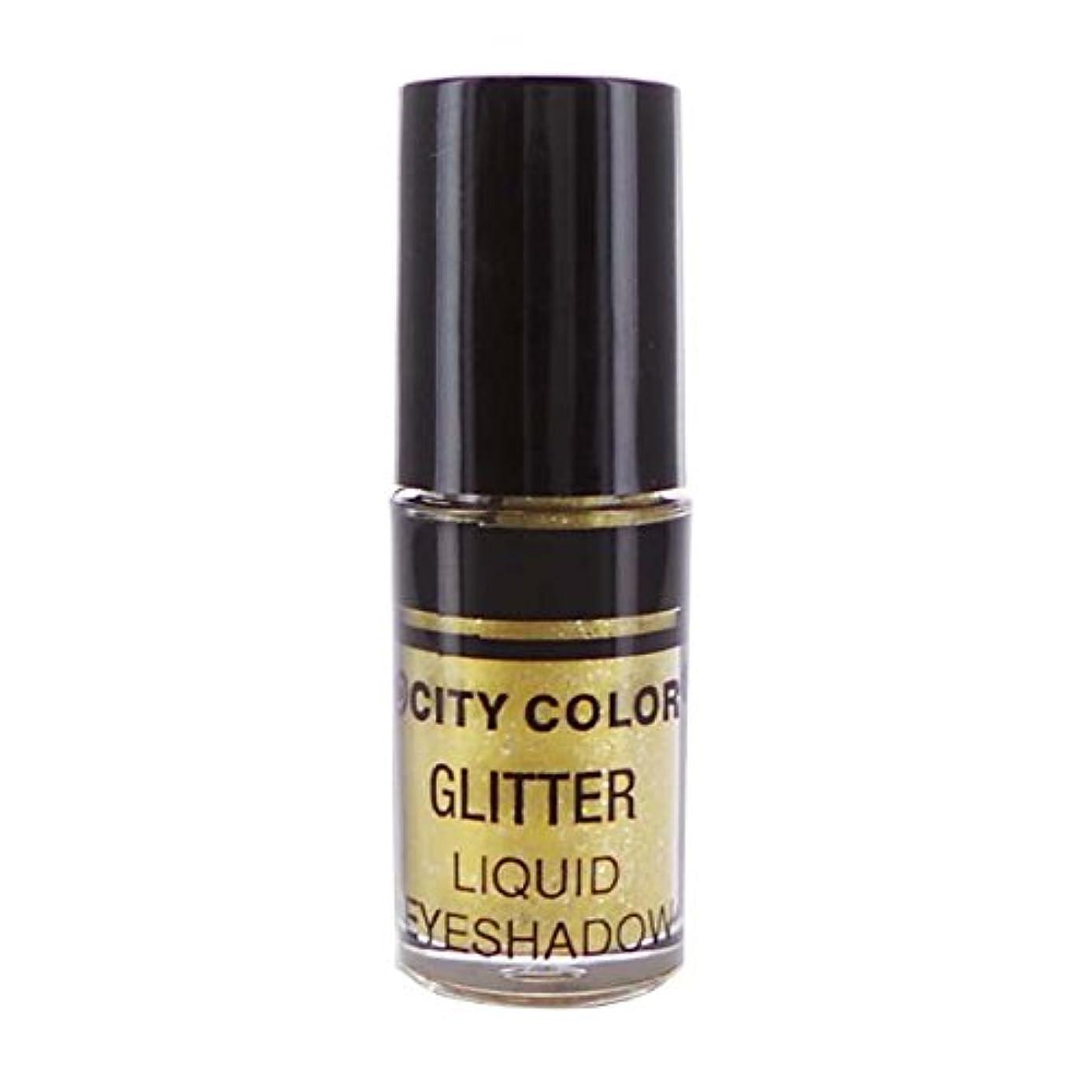 スリム止まるスナッチCITY COLOR Hi-Shine Glitter Liquid Shadow - Gold (並行輸入品)