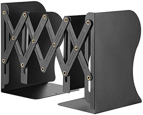 ブックエンド 伸縮自在 本立て 金属製 ブックスタンド スライド式 卓上収納 仕切りスタンド デスク整理 雑誌/書類/新聞/ファイル オフィス 事務用品