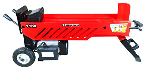 Sale!! Powerhouse Log Splitters XM-580 9 Ton Electric Hydraulic Horizontal Log Splitter, Red/Black/S...