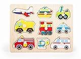Small Foot- Configuración Rompecabezas/F, Multicolor, Talla estándar (Puzzle Vehicules)